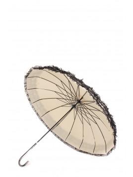 Parapluie Lacey beige dentelle noir