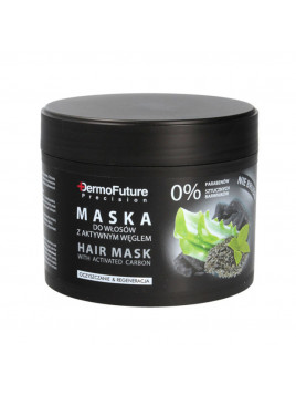 Masque Capillaire Au Charbon actif Cheveux démêlant Soin nourrissant purifiant