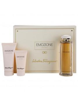 Emozione Ferragamo Coffret Parfum gel douche cadeau original pas cher Femme