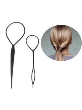 Twister pour queue de Cheval Torsadée. Idée coiffure simple et originale et rapide . Chignon Magique