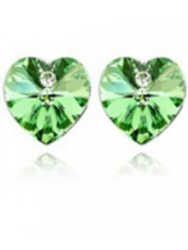 """Boucles d'Oreilles Coeur """"Diamant"""""""