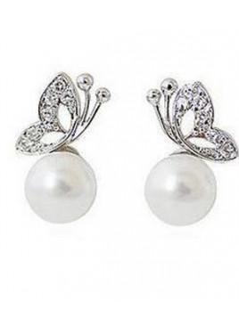 Boucles d'Oreilles Pearl & Butterfly
