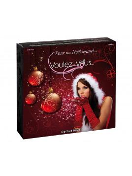 Coffret Voulez Vous Noël huile massage comestible original cadeau coquin sensuel