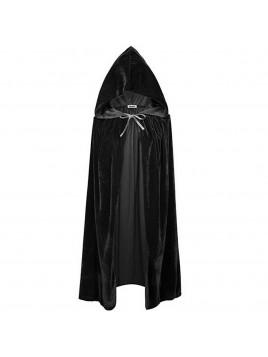 Cape pour Halloween Longue 170 cm effet velours noir intense idéal déguisement
