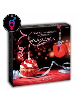 Coffret massage Joyeux Anniversaire huile massage comestible original cadeau coquin sensuel