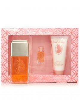 White Shoulders Parfum Femme Coffret Discount Pas Cher Musc Poudré Frais Muguet Lilas Ambre Gardenia Original
