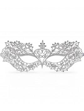 Magnifique masque porté par Anastasia dans 50 nuances plus sombres, dentelle argentée et strass.