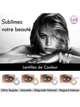 Lentilles de couleur Eyeshare + Boitier