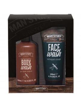 Coffret Double Act - Man' Stuff gel douche nettoyant visage cadeau homme original pas cher