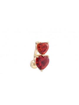 Piercing Coeur Rouge